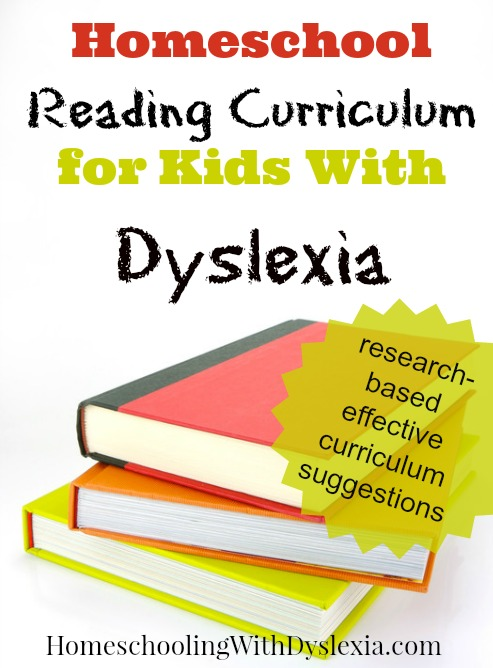 homeschool dyslexia reading curriculum