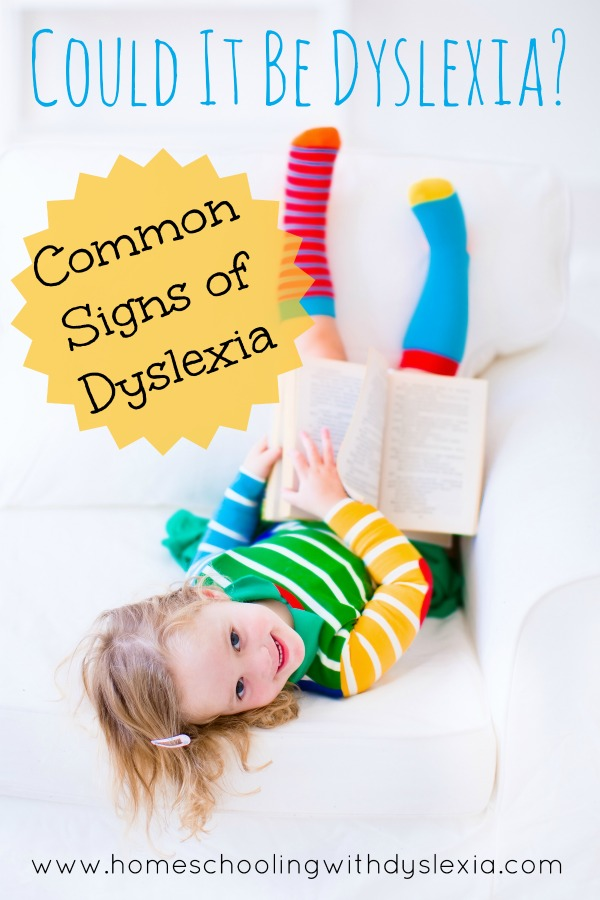signs dyslexia