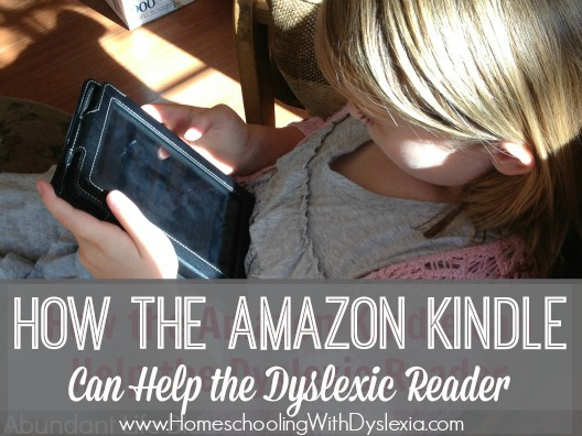 amazon kindle dyslexia