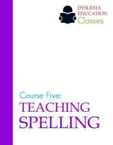 teach spelling dyslexia