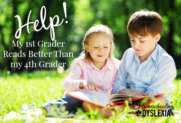 Help for when the younger child reads better than the older child.