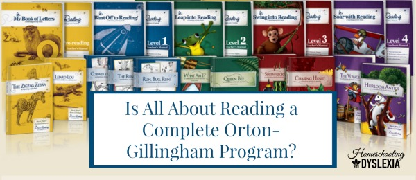 All About Reading Complete Orton Gillingham Program