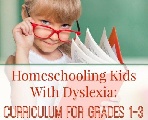 Homeschooling With Dyslexia Grades 1 - 3