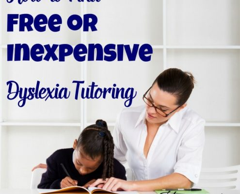 How to Find Free or Inexpensive Dyslexia Tutoring