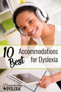10 Best Accommodations for Dyslexia