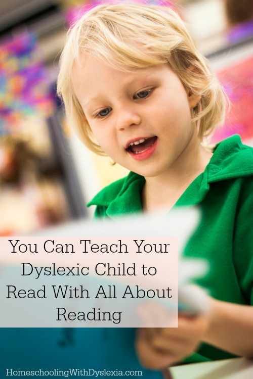 If you are teaching a child to read, All About Reading provides an inexpensive, research-based program that is easy to use and highly effective. It may be a perfect fit for your dyslexic child.