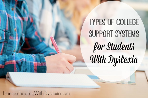 college support dyslexia