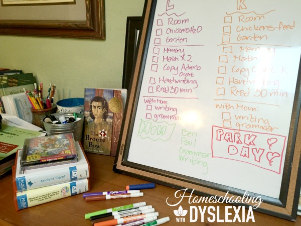 day in the life homeschool 1