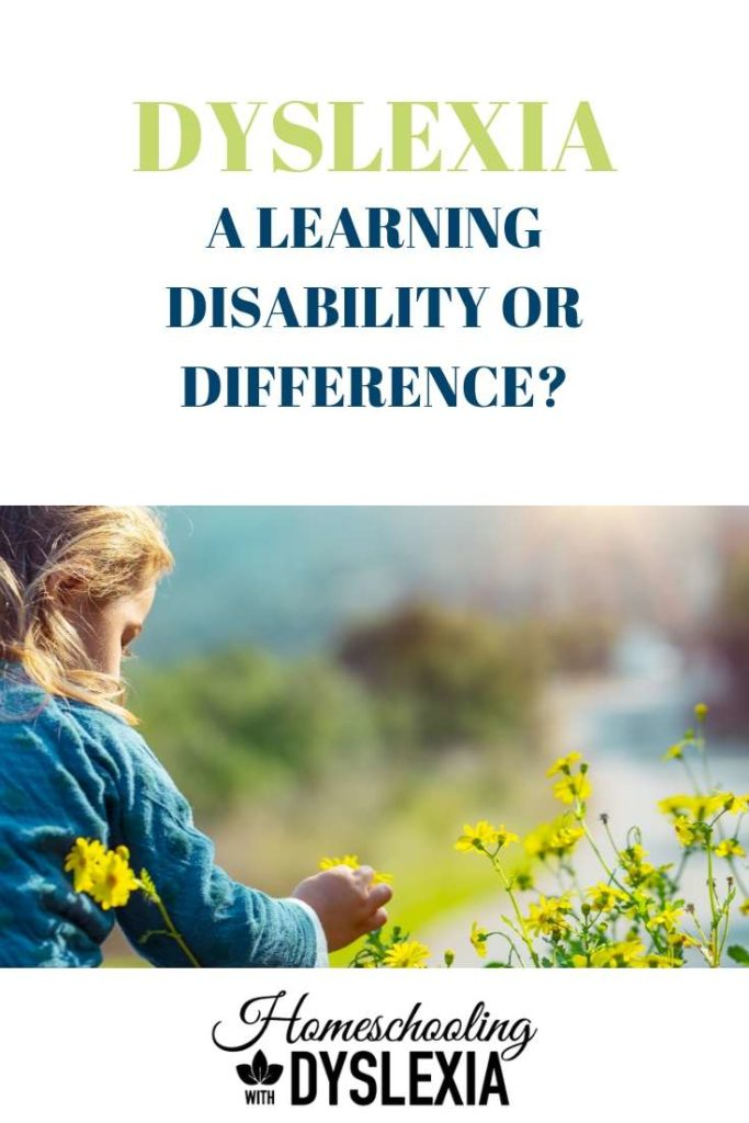 dyslexia learning disability or learning difference