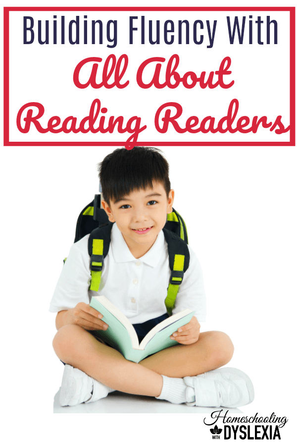 Learn two simple and easy-to-implement fluency strategies you can do at home with All About Reading readers. #AllAboutReading #Dyslexia #specialneeds #homeschooling