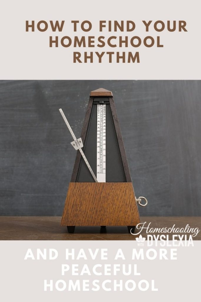 finding a homeschool rhythm