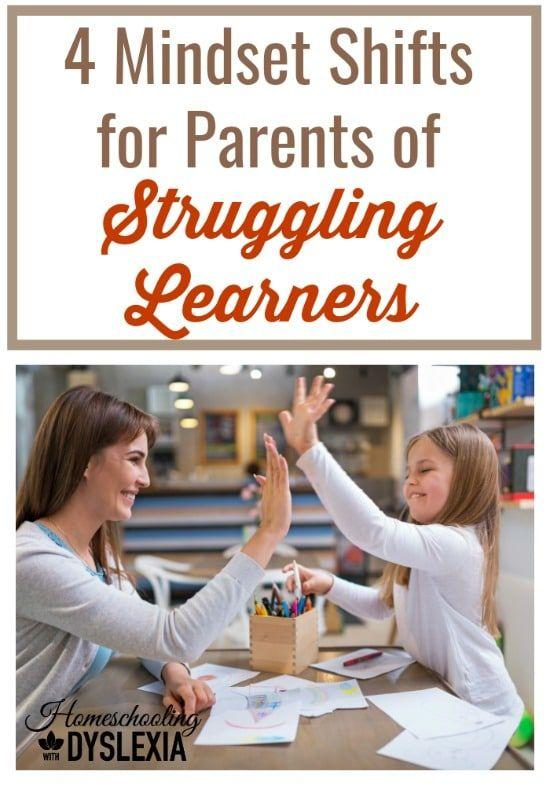 As the homeschooling parent of a bunch of struggling learners, I've learned to make these 4 powerful mindset shifts to teach them better and have a more joyful homeschool.