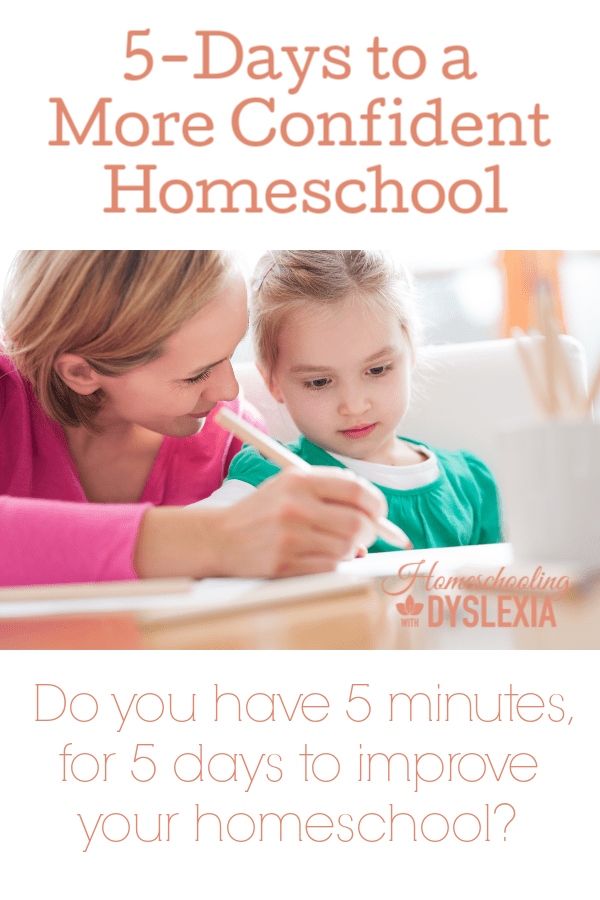 Would you like to have a more confident homeschool? Check out this series and have a more confident homeschool in just 5 days!