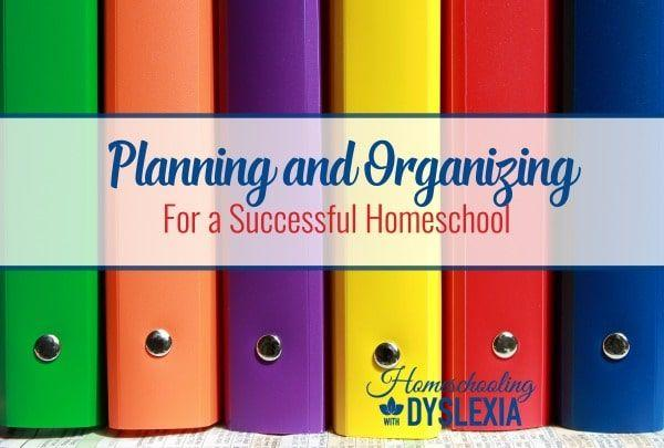 Planning and Organizing Homeschool