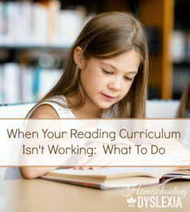 Reading Curriculum Dyslexia