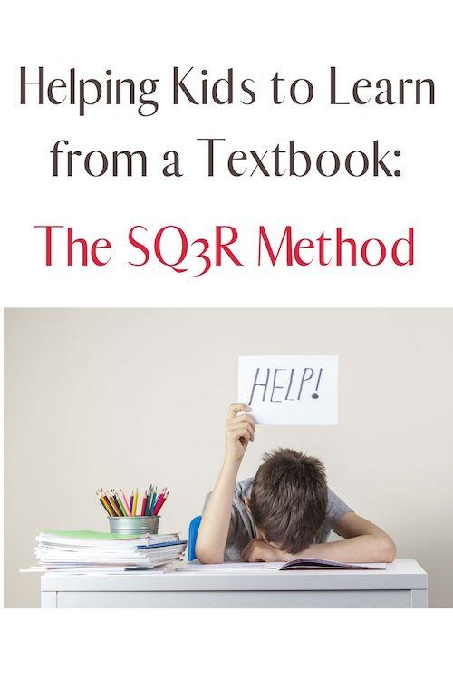 The SQ3R method helps students become more active learners and helps them to get information from a textbook.