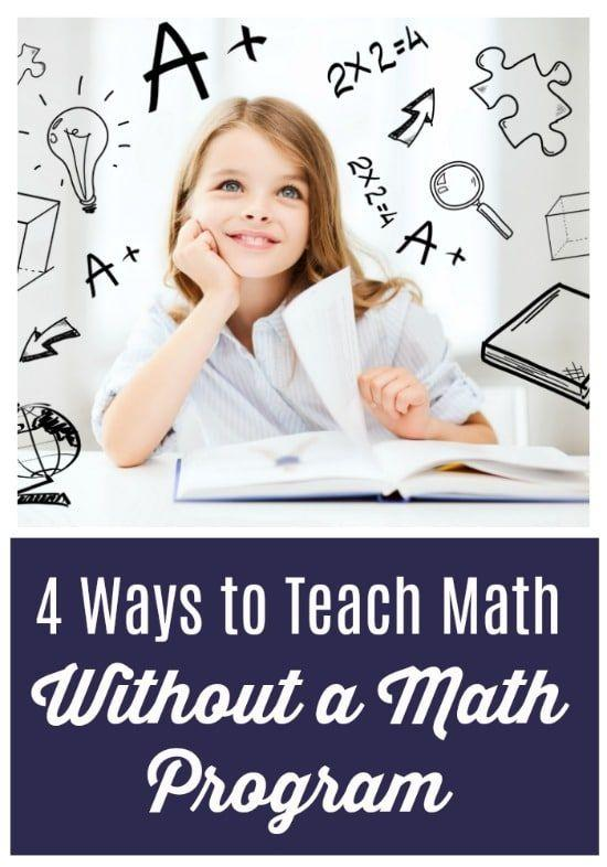 Kids who struggle with math often use immature math strategies and need to be taught more effective ways of solving problems to get caught up on math. Here are some ways to teach math without a math program.