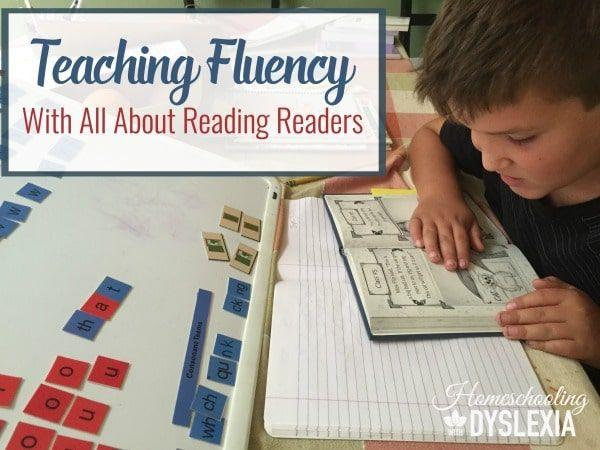 Learn two simple and easy-to-implement fluency strategies you can do at home with All About Reading readers. #homeschoolinwithdyslexia #allaboutreading #reading #teachingfluency #dyslexia #homeschool #homeschooling