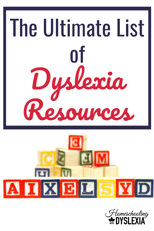 Are you looking for dyslexia resources for your family? We have the ultimate guide! Check out this extensive list of resources for dyslexic families.