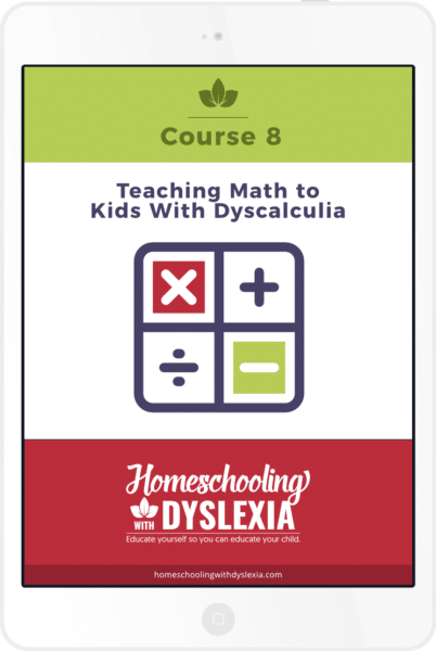 course 8 Teaching Math to Kids With Dyscalculia ipad