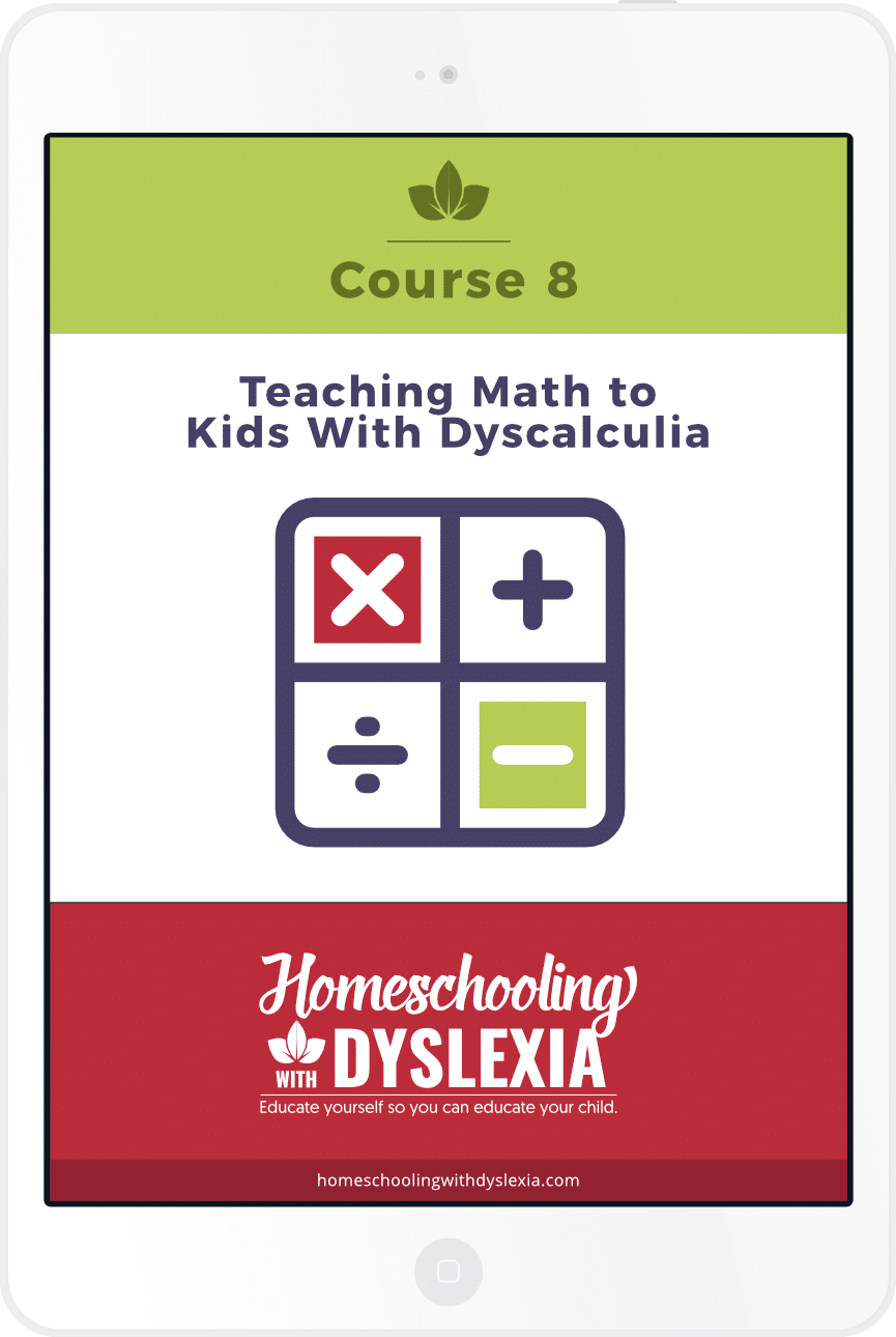 Course 8: Teaching Math to Kids With Dyscalculia | Homeschooling ...